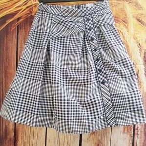 Anthropologie Odille Checkered Peasant Skirt 2